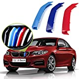 lanyun F22 Kidney Grill, m-Colored Grille for BMW 2014-up F22 F23 2-Series 228i 230i 235i 220i Grill Insert Stripes 8-Beam Accessories
