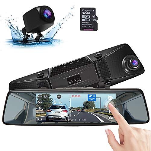 AKASO Mirror Dash Cam Car Camera