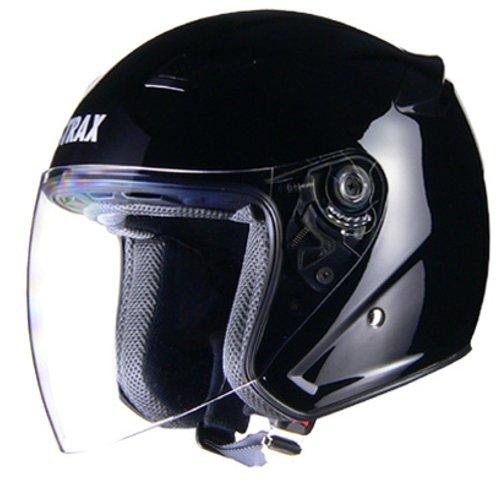リード工業(LEAD) バイクヘルメット ジェット STRAX ブラック M SJ-8 -