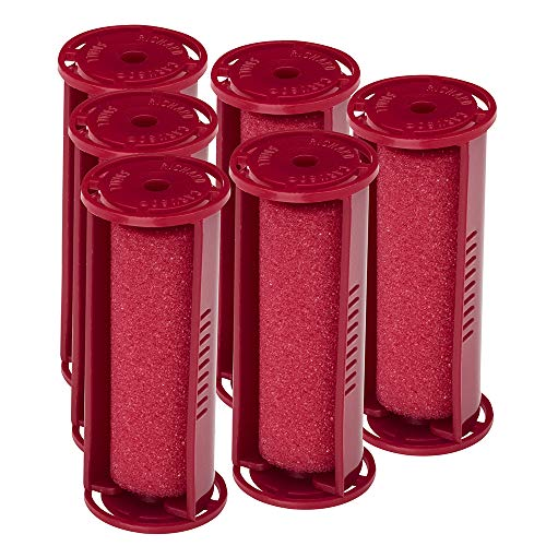 Caruso Professional Small Molecular Replacement Steam Hair Rollers with Shields, 6-Pack,  Inches