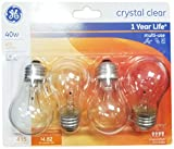 GE Ceiling Fan Bulb, 40W, 4pk
