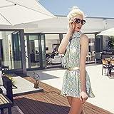Relaxdays Gusseisen, antikes Design, wetterfest, Gartendekoration, H x B x T: ca. 36 x 17 x 14 cm, braun Sonnenuhr, - 4