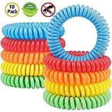 Gritin Bracelet Anti-Moustique [Lot de 10], Bracelets Anti-Moustiques Naturel- 100% Huile Essentielle – Résiste à...