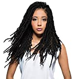 Bobbi Boss Synthetic Hair Crochet Braids African Roots Braid Collection Nu Locs 18' (6-PACK, 1B)