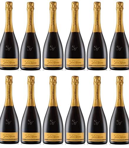 Vino Spumante - 12 Bottiglie da 0,75. l. -Conegliano Valdobbiadene D.O.C.G. Extradry Prosecco Superiore Millesimato - BiancaVigna