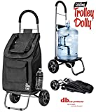 dbest products Trolley Dolly, Black Shopping Grocery Foldable Cart