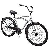 Huffy 26' Cranbrook Men's Beach Cruiser Comfort Bike, Silver