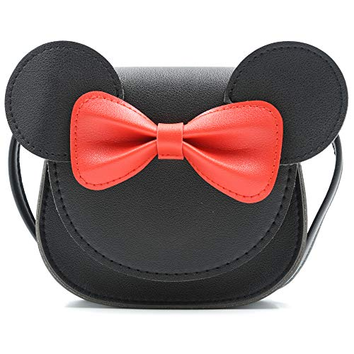 "51flHZU5+XL Unique design: polyurethane material, the surface is the outline of a mouse, with a bow. It looks lovely and interesting. Structure:1 Magnetic button pocket Little Size:6.6""*5.1""*1.6"" (L*W*H); 0.22 lb lightweight"