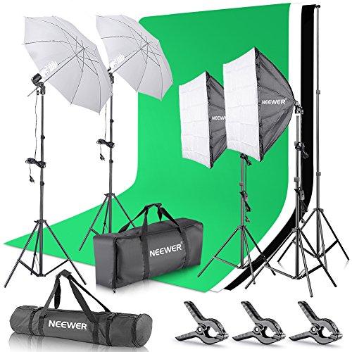 Neewer Set para Estudio fotográfico y producción de vídeo, Sistema de Soporte de 2,6 m x 3 m...