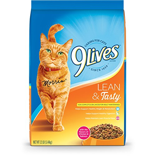 9 Lives Lean And Tasty Dry Cat Food, 12-Pound