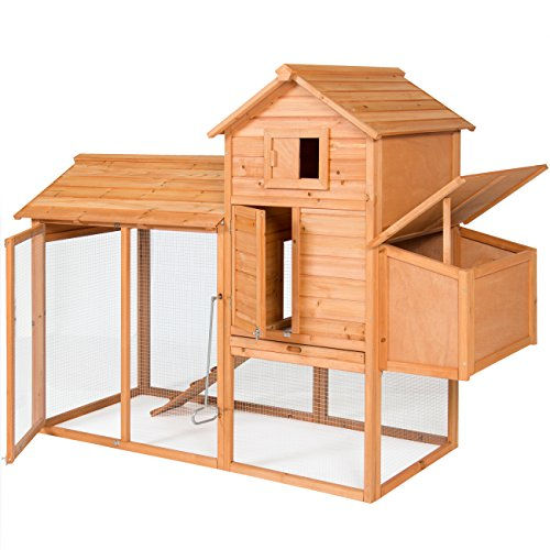 Best Choice Products Outdoor Wooden Chicken Coop...