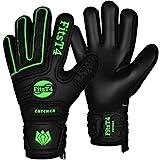 FitsT4 Goalie Goalkeeper Gloves with Fingersaves & Super Grip Palms Soccer Goalkeeper Gloves for Youth, Adult Green 9