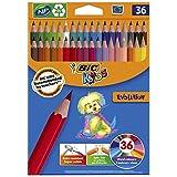 BIC Kids Evolution ECOlutions Crayons de Couleur - Couleurs Assorties, Etui...