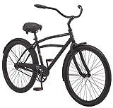 Schwinn Huron Adult Beach Cruiser Bike, Featuring 17-Inch/Medium Steel Step-Over Frames, 1-Speed Drivetrain, Black