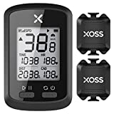 XOSS G+ GPS Bike Computer ANT+ with 2 Smart Cadence Sensor, Bluetooth Cycling Computer, Wireless Bicycle Speedometer Odometer, Waterproof MTB Tracker Fits All Bikes (Support Heart Rate Monitor)