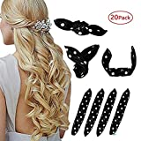Foam Hair Curlers, Pillow Cloth Hair Rollers,No Heat Sleeping Soft Sponge Rollers for Long, Short, Thick & Thin Hair Spiral Curls Hair Styling Rollers (black)
