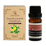 TKH 100% Pure Essential Oil Natural Bergamot Extracted 10ml Therapeutic Oil Muscles Relax/Pressure...