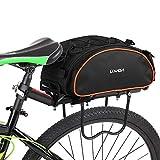 Lixada Bicycle Rack Bag 13L Multifunctional Bicycle Rear Seat Bag Cycling Bike Rack Seat Bag Rear...