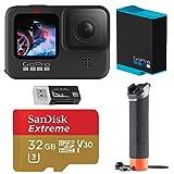 GoPro HERO9 Black, Waterproof Action Camera, 5K/4K Video, Starter Bundle with Extra Battery,...