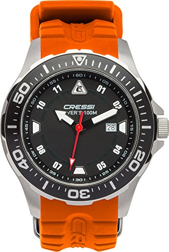 Cressi Manta Watch Colorama - Professionelle Taucheruhr, widerstandsfähig 100m/10 ATM