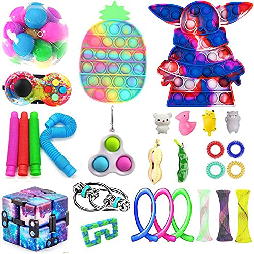 aturustex 30Pcs Fidget Toy Set Sensory Fidget Toy Pack...