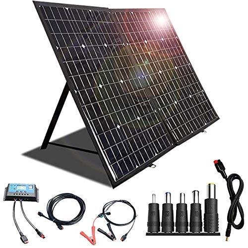 Caricabatterie solare portatile 120W 12V Kit...