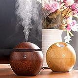 VR ENDEAVOR® Wood Grain Cool Mist Humidifier Mini Aroma Essential Oil Diffuser Humidifiers Essential Oil Diffuser Aroma Air Humidifier for Car, Office, Home, School etc.(Multicolor)