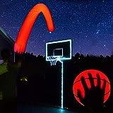 GlowCity Light Up Basketball Hoop Kit with LED Basketball - White, Size 7 Basketball (Official Size)