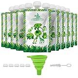 Coffret de 10 Gourdes Réutilisables 150 ml - Gourde Compote Reutilisable - Facile à Remplir et à...