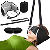 Neck Head Hammock, for Neck Pain Relief and Physical Therapy, Relieves Stress, Headaches and Neck Support, Cervical Traction Device for Neck and Shoulder Pain, with Eye Mask, (Wonder Healing)