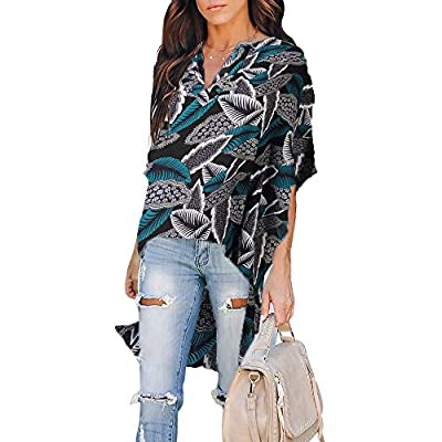 Features: V Neck, High Low Hem, Relaxed Fit Short Sleeves Tops, Soft Fabric, Comfortable Wear Occasion: Great for Casual, Daily Wear, Party, Club, Night Out, Vacation, Dating, Spring, Autumn and Winter. High quality simple fashion design, a decent gi...