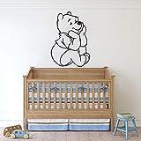 wZUN Pegatinas de Pared de Oso Pegatinas de Pared de Dibujos Animados Oso decoración de habitación de niños Pegatinas Bonitas para el hogar decoración de Dormitorio 42X30 cm