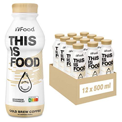 YFood Kaffee   Laktose- und glutenfreier Nahrungsersatz   34g Protein, 26 Vitamine und Mineralstoffe   Leckere Astronautennahrung - 25% des Kalorienbedarfs   Trinkmahlzeit, 12 x 500 ml (1 kcal/ml)