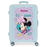 Disney Minnie Happy Helpers Maleta Mediana Azul 48x68x26 cms Rígida ABS Cierre combinación 70L 3,7Kgs 4 Ruedas Dobles