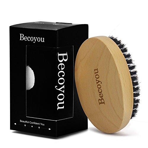 Spazzola per Barba Uomo, Becoyou Pennello Barba Ovale Setole Cinghiale Naturalli, per Bellezza Cura Persona di Uomo