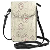 Women Small Cell Phone Purse Crossbody,Vintage Watches With Roman Digits Antique Machine...