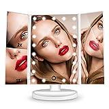 HAMSWAN Espejo de Mesa, [Regalos Originales] Espejo de Maquillaje Profesional Tríptico con Aumento...