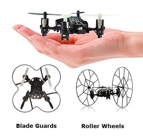 Top race Quadricottero a quattro canali Micro Mini-Drone con ruote, Fly, Roll e Flip. TR-MQ3