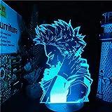 3D Anime Night Light Anime Character Academy Lámpara de mesa que cambia de color Regalo del día de Navidad