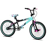 Capture Girls Attention with Soft and Sturdy Kent 20' Tempest Girls Bike,Features Front and Rear Hand Brakes Plus Front and Rear Pegs,Safe and Comfortable Gift Choice for Kids,Black/Green