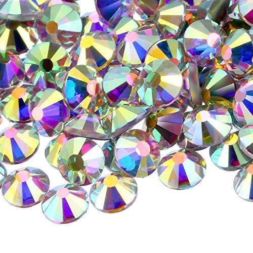 NCB 2160pcs Non Hotfix Flatback Crystals Rhinestones Round...