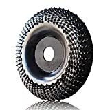 """OBA Grinder Wheel Disc 4 Inch Wood Shaping Wheel, Wood Grinding Shaping Disk for Angle Grinders with 5/8"""" Arbor"""
