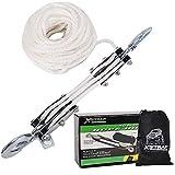XSTRAP Heavy-Duty 2,000 LB Breaking Strength 50 FT Rope Hoist (White)