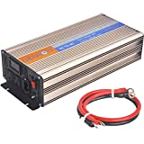 Pikasola 1500W Pure Sine Wave Inverter Solar Wind Power Inverter 24V to 110V with LCD Display Build in Utility Power Switch Off Grid Power Converter for Home RV Truck Boat Camping