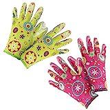 com-four® 2er Set Premium Handschuhe für Garten und Arbeit - Boden- und...