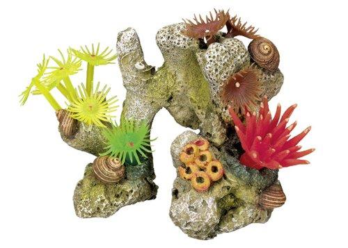 "Nobby Aqua Ornaments \""KORALLE\"" mit Pflanzen  11 x 7 x 8,5 cm"