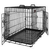 FEANDREA Cage pour Chien 2 Portes Pliable et Transportable avec Poignées...