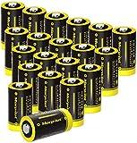 morpilot Piles CR123A Lot de 20, 1500mAh 3V Batterie Lithium CR17345 Non...