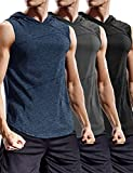 COOFANDY Men's Workout Hooded Tank Tops Bodybuilding Sport Sleeveless T-Shirts