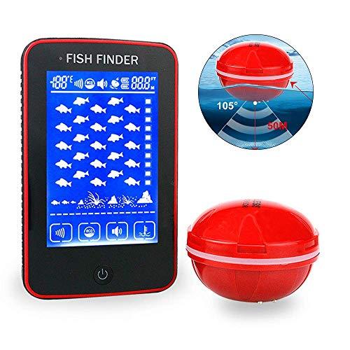 ZY Impermeabile Touch Screen A Colori Senza Fili dei Pesci del Sonar Finders HD Fishfinder Portatile Ricaricabile Intelligente Attrezzi da Pesca 500 Metri Ricezione Distanza
